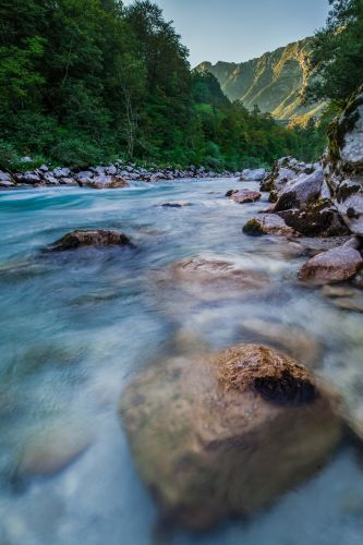 Running through western Slovenia and into Italy, we were blown away by the clear blue waters of the Soča.