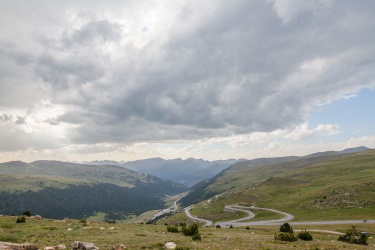 Winding roads, rugged peaks and discount tobacco outlets characterised what little we saw of Andorra.