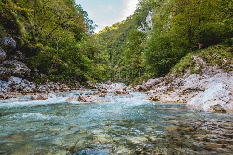 Another of Slovenia's natural beauties, the Tolmin gorge carves its way through the Triglav National Park.